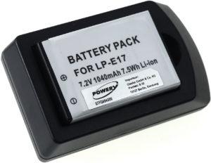 Μπαταρία φωτογραφικής μηχανής   Canon EOS 750 / 760D / type LP-E17 including charger  7.2V 1040mAh Li-ion  (K0E17)