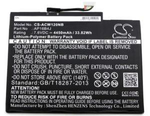 Μπαταρία για laptop   Karcher Acer Aspire Switch Alpha 12 / type AP16B4J  7.6V 4450mAh Li-Polymer  (N0A12)