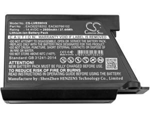 Μπαταρία για    LG VR34406LV / VR6170LVM / type EAC62218202  14.4V 2600mAh Li-ion  (RVR344)