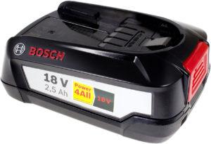 Μπαταρία ηλεκτρικού εργαλείου      Bosch PSR 18 LI-2/ type 1600A005B0/ 2607337199 original 2500mAh  18V 2500mAh Li-Ion  (W018-BL25)