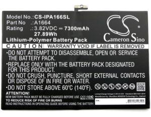 Μπαταρία για tablet    Apple iPad 6.3 / iPad Pro 9.7 / type A1664  3.82V 7300mAh Li-polymer  (NT4A1664)